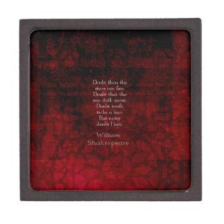William Shakespeare Famous Love Quote Premium Keepsake Boxes