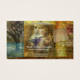 WILLIAM SHAKESPEARE Famous QUOTATION Business Card