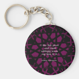 "William Shakespeare Funny Quote ""I like this place Keychain"
