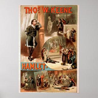 """William Shakespeare """"Hamlet"""" Theatre Poster"""