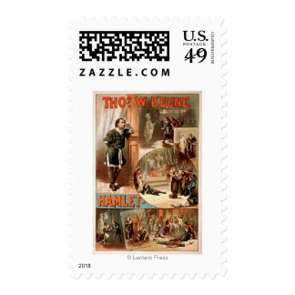 """William Shakespeare """"Hamlet"""" Theatre Poster Postage Stamps"""