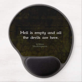 William Shakespeare Humorous Witty Quotation Gel Mouse Pad