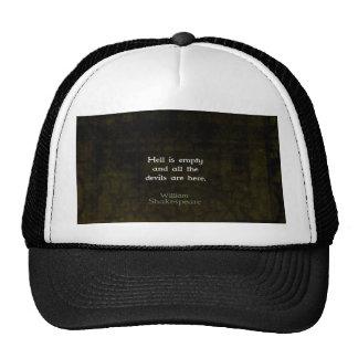 William Shakespeare Humorous Witty Quotation Hats