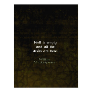 William Shakespeare Humorous Witty Quotation Custom Letterhead
