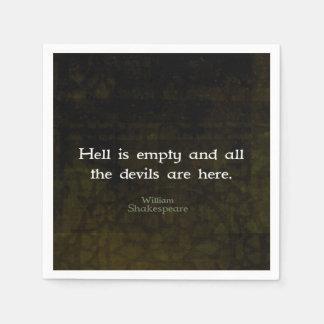 William Shakespeare Humorous Witty Quotation Paper Napkin