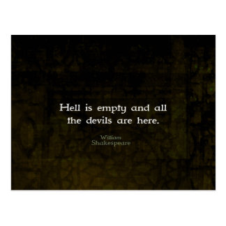 William Shakespeare Humorous Witty Quotation Postcard