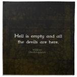 William Shakespeare Humorous Witty Quotation Printed Napkins