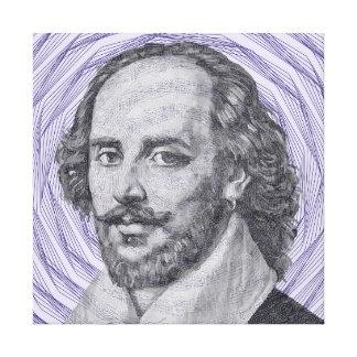 William Shakespeare Impresión En Lona Estirada