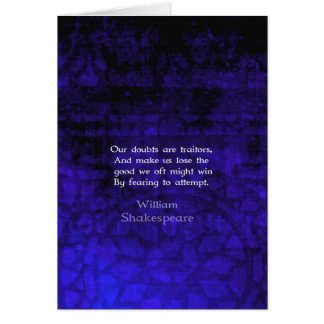 William Shakespeare Inspirational Courage Quote Card