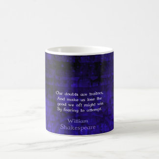 William Shakespeare Inspirational Courage Quote Coffee Mug