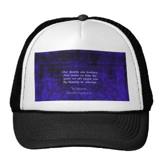 William Shakespeare Inspirational Courage Quote Mesh Hats