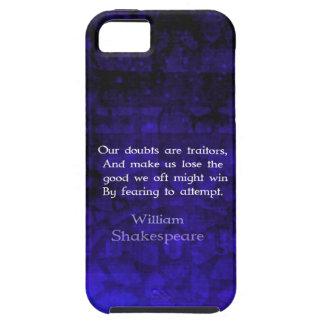 William Shakespeare Inspirational Courage Quote iPhone SE/5/5s Case
