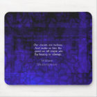 William Shakespeare Inspirational Courage Quote Mouse Pad