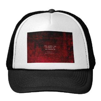 William Shakespeare Inspirational Future Quote Trucker Hat