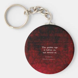 William Shakespeare Inspirational Future Quote Basic Round Button Keychain