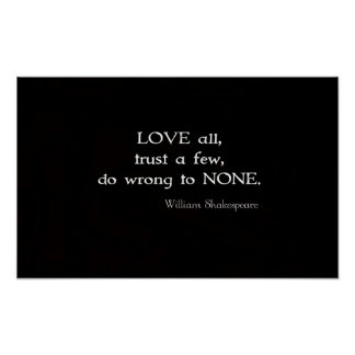William Shakespeare Inspirational Quote About Love Poster