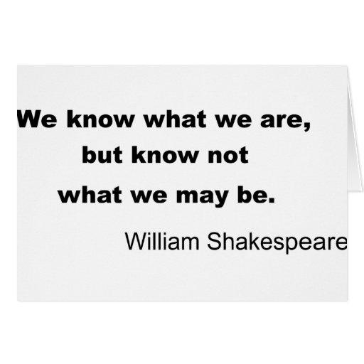 William Shakespeare Inspiring Quote Greeting Card