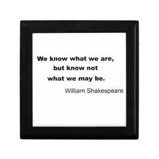 William Shakespeare Inspiring Quote Keepsake Box