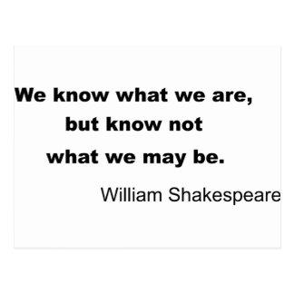 William Shakespeare Inspiring Quote Postcard