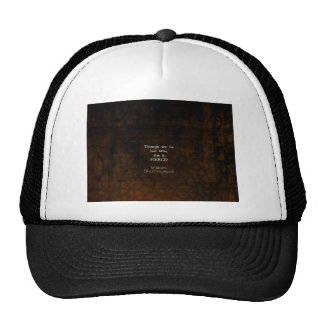 William Shakespeare Little And Fierce Quotation Mesh Hats