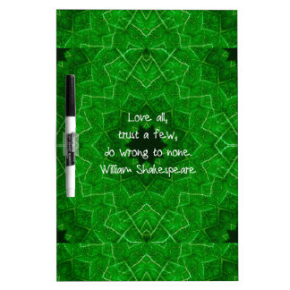 William Shakespeare Love And Trust Wisdom Saying Dry-Erase Whiteboards