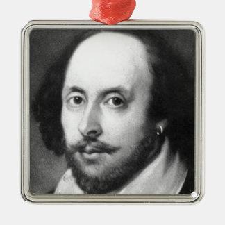 William Shakespeare Metal Ornament