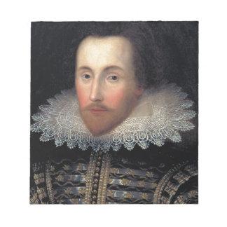 william shakespeare notepad