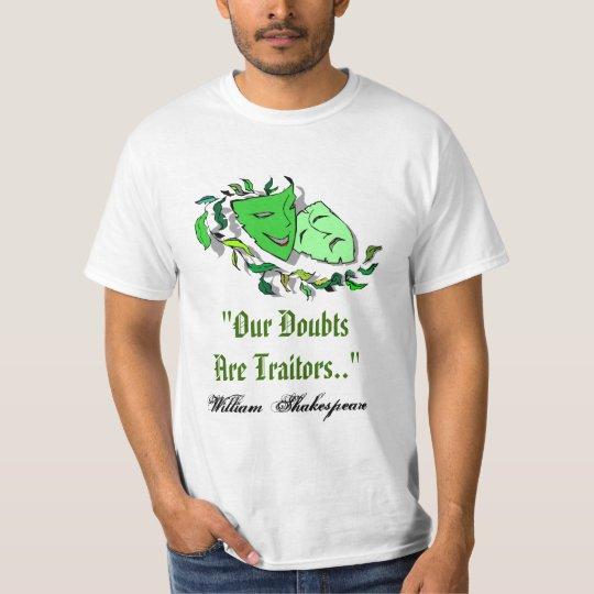 William Shakespeare nuestras dudas es camisa de