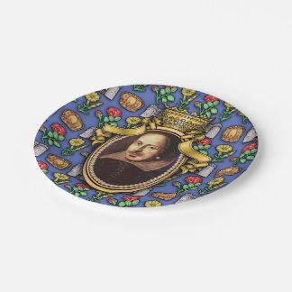 William Shakespeare Paper Plate