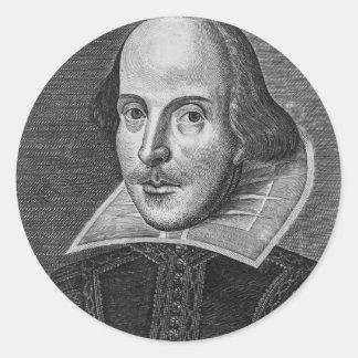 William Shakespeare Pegatinas Redondas