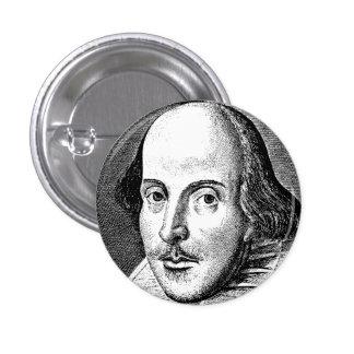 William Shakespeare Pin Redondo De 1 Pulgada