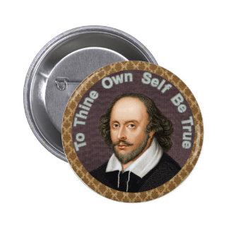 William Shakespeare Pin Redondo De 2 Pulgadas