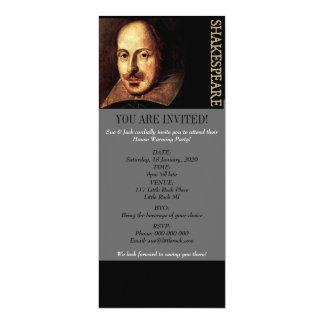 William Shakespeare Portrait 4x9.25 Paper Invitation Card