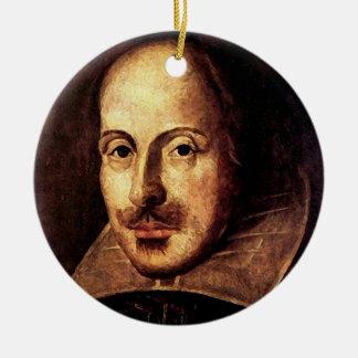 William Shakespeare Portrait Ceramic Ornament