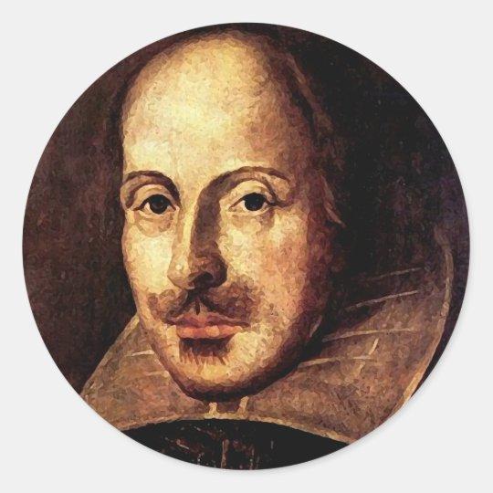 William Shakespeare Portrait Classic Round Sticker