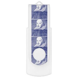 William Shakespeare Portrait First Folio USB Flash Drive