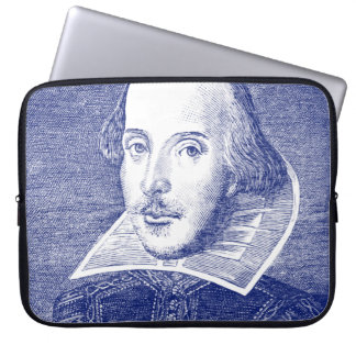 William Shakespeare Portrait from First Folio Computer Sleeve