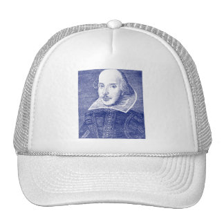 William Shakespeare Portrait from First Folio Hats