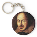 William Shakespeare Portrait Keychain