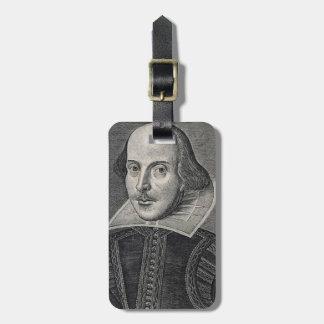 William Shakespeare Portrait Luggage Tag