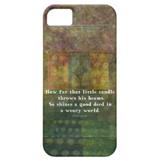 William Shakespeare quotation with painting iPhone SE/5/5s Case