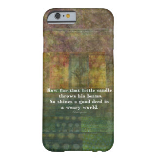 William Shakespeare quotation with painting iPhone 6 Case