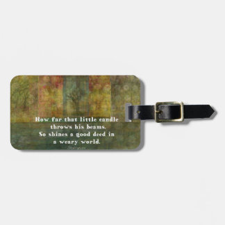William Shakespeare quotation with painting Luggage Tag