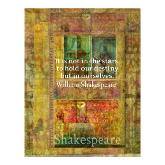 William Shakespeare QUOTE about Destiny Letterhead Template