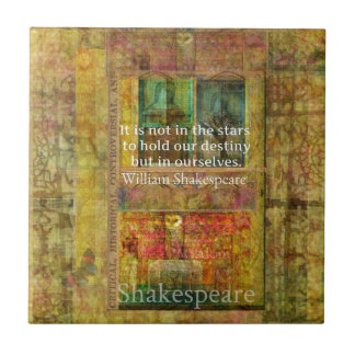 William Shakespeare QUOTE about Destiny Tile