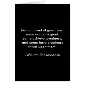 William Shakespeare Quote - Greatness Card