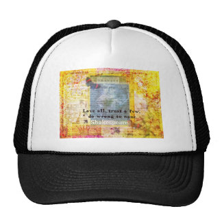 William Shakespeare quote LOVE ALL Hats