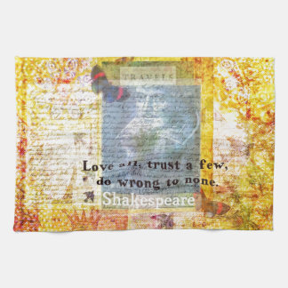 William Shakespeare quote LOVE ALL Kitchen Towels