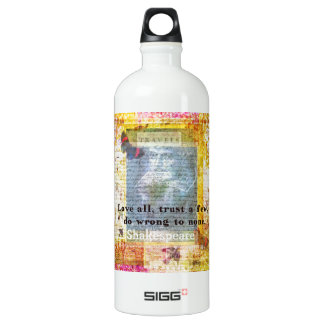 William Shakespeare quote LOVE ALL SIGG Traveler 1.0L Water Bottle