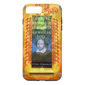 William Shakespeare Romantic LOVE Quote iPhone 7 Plus Case